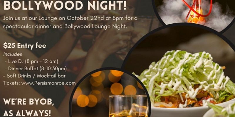 Buffet & Bollywood Lounge Night ,Monroe