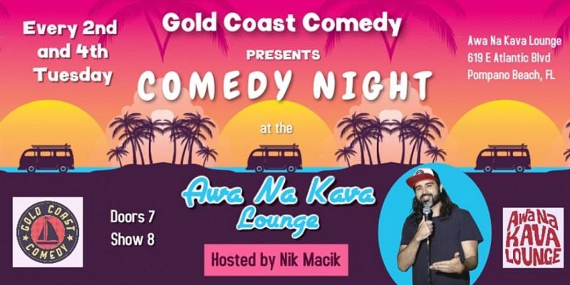 Comedy Night at Awa Na Kava Lounge ,Pompano Beach