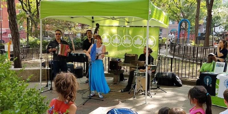 Concert at Ruppert Park: The Blue Dahlia ,New York