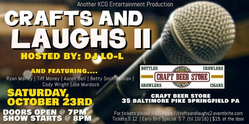 Crafts & Laughs II Comedy Showcase ,Springfield