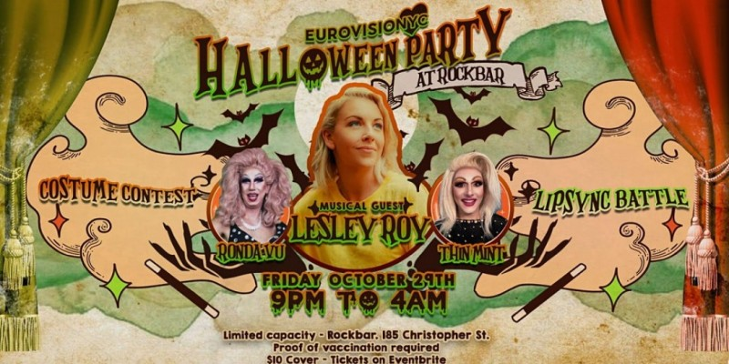 EurovisioNYC Halloween Costume Party feat. Lesley Roy! ,New York