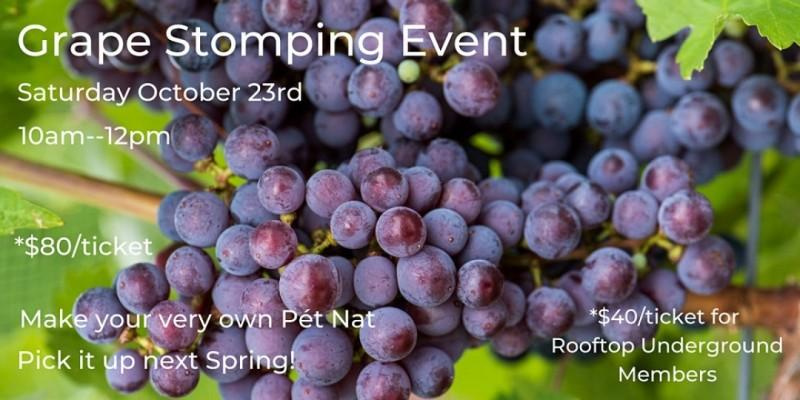 Grape Stomping & Pét-Nat Making Event! ,Brooklyn