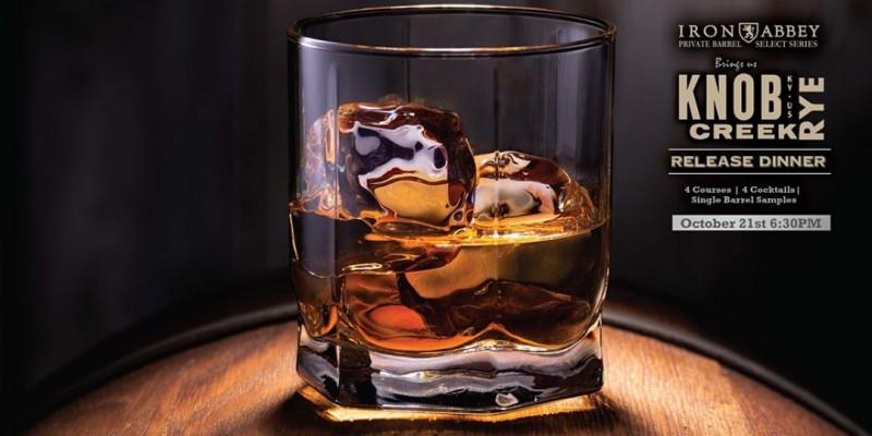 Knob Creek Rye Whiskey Release Dinner ,Horsham