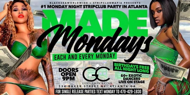 MONDAY NIGHTS @ GENTLEMEN'S CLUB ATLANTA ,Atlanta