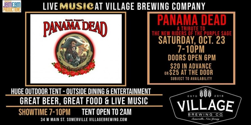 Panama Dead :Tribute to New Riders of the Purple Sage @ Village Brewing Co. ,Somerville
