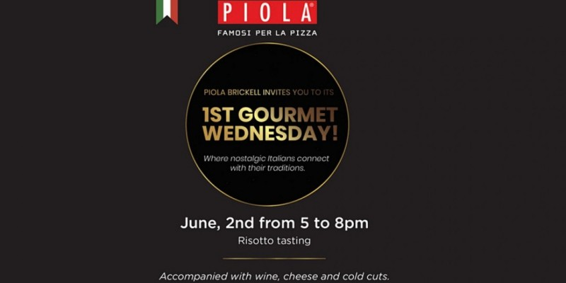 Piola Gourmet Wednesday - Italian Delicacies Tasting ,Miami