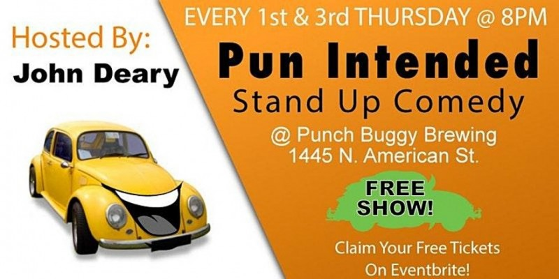 Pun Intended: Comedy at Punch Buggy Brewing Company ,Philadelphia