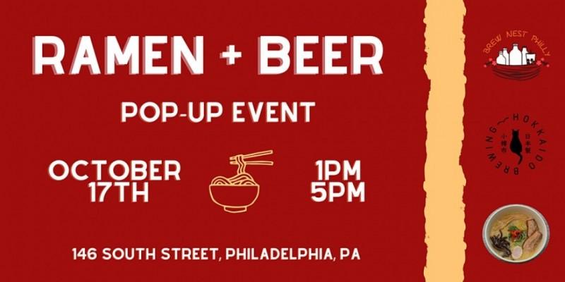 Ramen + Beer Pop Up (w/ Hokkaido Brewing and Nom Nom Ramen) ,Philadelphia