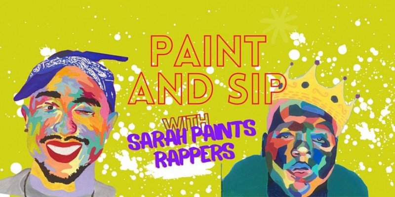 Rappers Paint and Sip with Sarah Paints Rappers ATL ,Atlanta