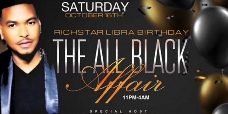 RICHSTAR ALL BLACK BIRTHDAY CELEBRATION ,New York