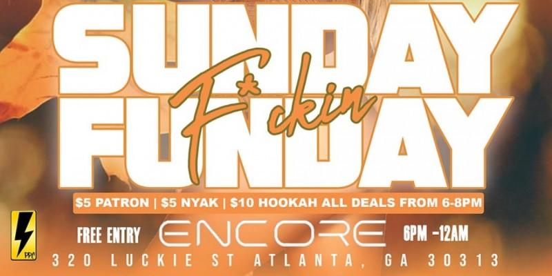 Sunday Funday Party At Encore Hookah Lounge ,Atlanta