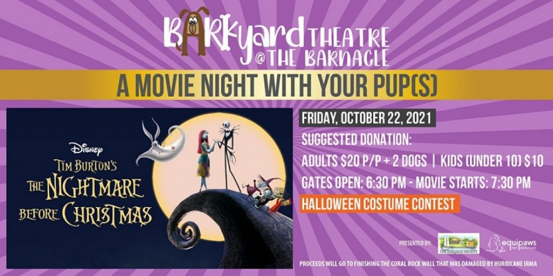 The Barkyard Theatre at The Barnacle: The Nightmare Before Christmas! ,Miami