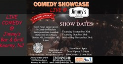 Comedy Therapy Showcase Live @ Jimmy's Bar & Grill - Nov 24th, 8pm ,Kearny
