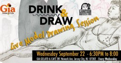 """""""Drink & Draw"""" Live Model Drawing Session ,Jersey City"""