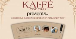 KAI-FÉ NYC: K-POP EXO KAI cupsleeve event ,New York
