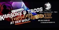 Karaoke & Taco Tuesday at Derwolf ,Pasadena