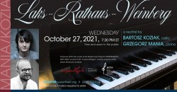 Laks-Rathaus-Weinberg -  a cello and piano recital ,New York