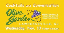 No Cover ~ Olive Garden ~ Lawrenceville NJ ~ Happy Hour ~ ticket required ,Trenton