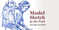 Outdoor Sketch Event with Bagpiper ,Wilmington