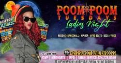 "Poom Poom Tuesdays ""LADIES NIGHT"" ,Los Angeles"