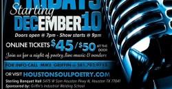 Soul Poetry Showcase on December 10th ,Houston