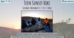 Teen Sunset Hike! ,Ringwood