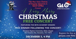 Very Merry Christmas Free Concert and Meal with Bay Area Chorus ,Houston