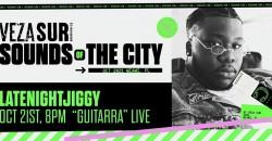 """Veza Sur Presents: LateNightJiggy """"Guitarra"""" Live ,Miami"""