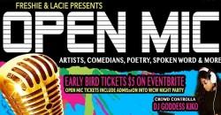 Wednesdays Open Mic Night w Freshie & Lacie ,Atlanta